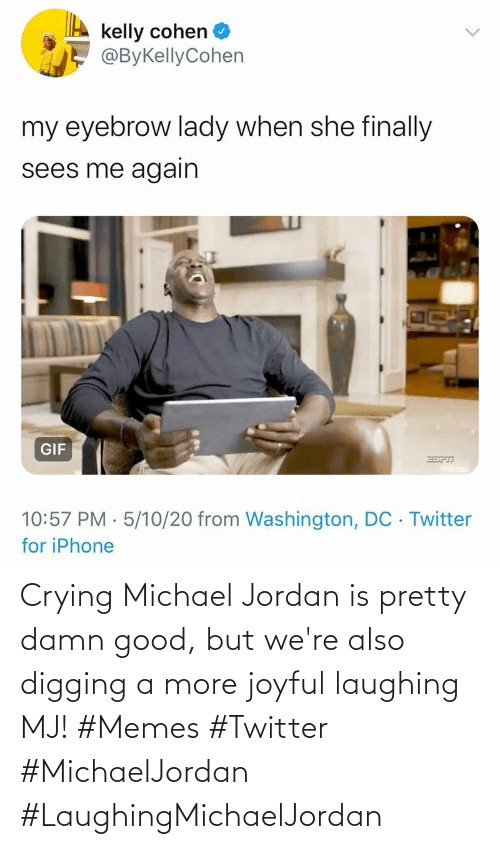 laughing: Crying Michael Jordan is pretty damn good, but we're also digging a more joyful laughing MJ! #Memes #Twitter #MichaelJordan #LaughingMichaelJordan