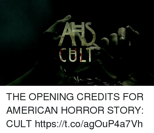 american horror: CULT THE OPENING CREDITS FOR AMERICAN HORROR STORY: CULT https://t.co/agOuP4a7Vh