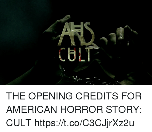 american horror: CULT THE OPENING CREDITS FOR AMERICAN HORROR STORY: CULT https://t.co/C3CJjrXz2u