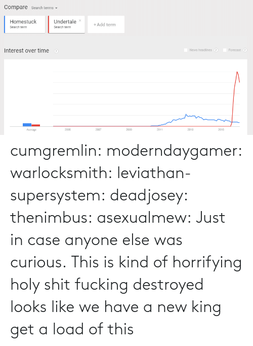 just in case: cumgremlin: moderndaygamer:  warlocksmith:  leviathan-supersystem:  deadjosey:  thenimbus:  asexualmew:  Just in case anyone else was curious.  This is kind of horrifying  holy shit   fucking destroyed   looks like we have a new king   get a load of this