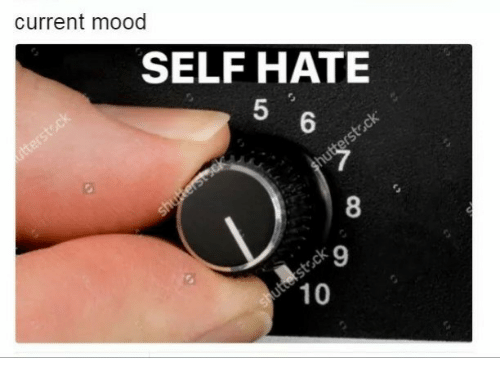Current Mood: current mood  SELF HATE  5  6  8  9  10