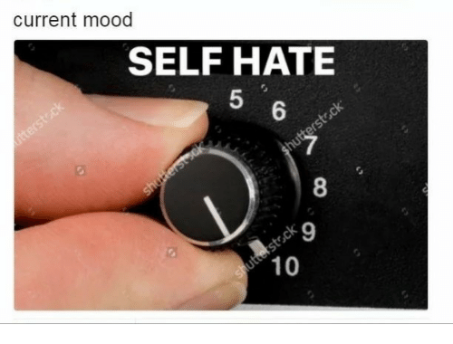 Current Mood: current mood  SELF HATE  5  8  9  10