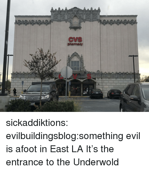 Tumblr, Blog, and Http: CVS  CV S sickaddiktions:  evilbuildingsblog:something evil is afoot in East LA  It's the entrance to the Underwold