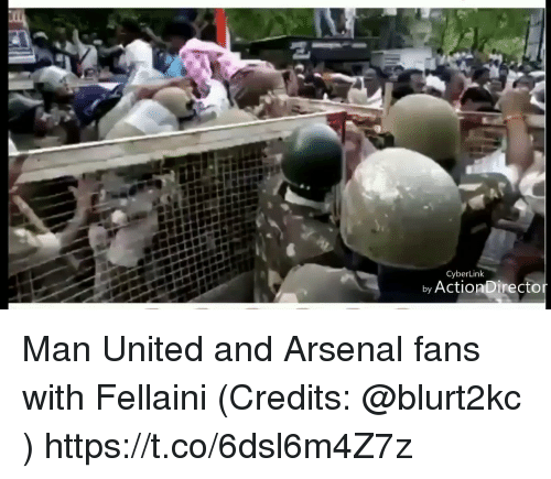 fellaini: CyberLink  by ActionDirecto Man United and Arsenal fans with Fellaini (Credits: @blurt2kc )  https://t.co/6dsl6m4Z7z