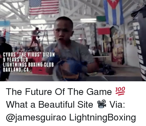 """Beautiful, Boxing, and Club: CYRUS THE VIRUS"""" DIZON  9 YEARS OLD  LIGHTNINGS BOXING CLUB  OAKLAND CA The Future Of The Game 💯 What a Beautiful Site 📽 Via: @jamesguirao LightningBoxing"""