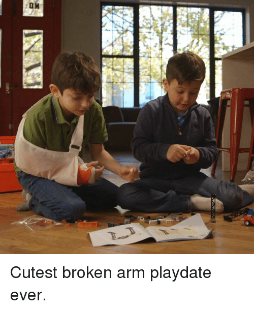 Broken Arms: /D  r. Cutest broken arm playdate ever.