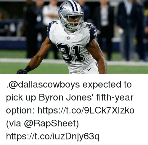 Memes, 🤖, and Via: .@dallascowboys expected to pick up Byron Jones' fifth-year option: https://t.co/9LCk7Xlzko (via @RapSheet) https://t.co/iuzDnjy63q
