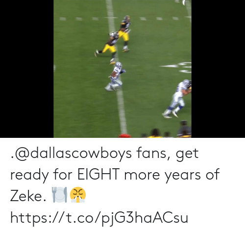 Memes, 🤖, and For: .@dallascowboys fans, get ready for EIGHT more years of Zeke. 🍽️😤 https://t.co/pjG3haACsu