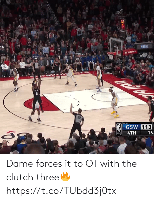 clutch: Dame forces it to OT with the clutch three🔥 https://t.co/TUbdd3j0tx