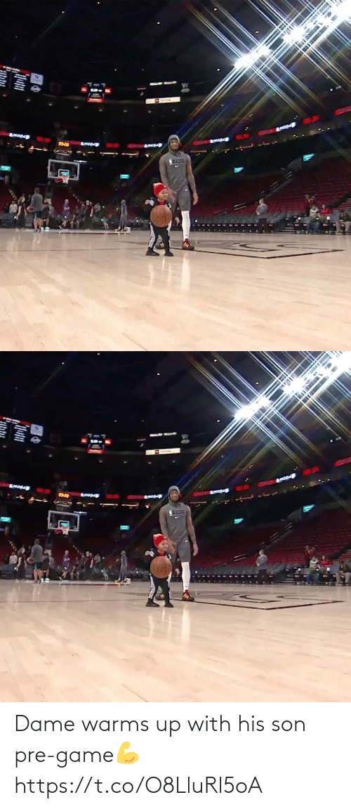 His: Dame warms up with his son pre-game💪 https://t.co/O8LluRl5oA