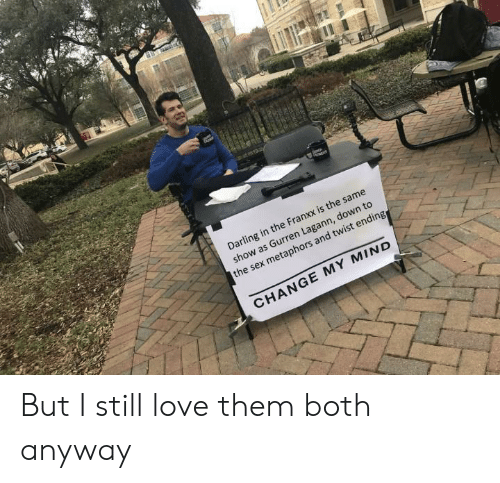 Anime, Love, and Sex: Darling in the Franxx is the same  show as Gurren Lagann, down to  the sex metaphors and twist ending  CHANGE MY MIND But I still love them both anyway