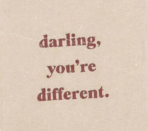 Darling, Youre, and Different: darling,  you're  different.