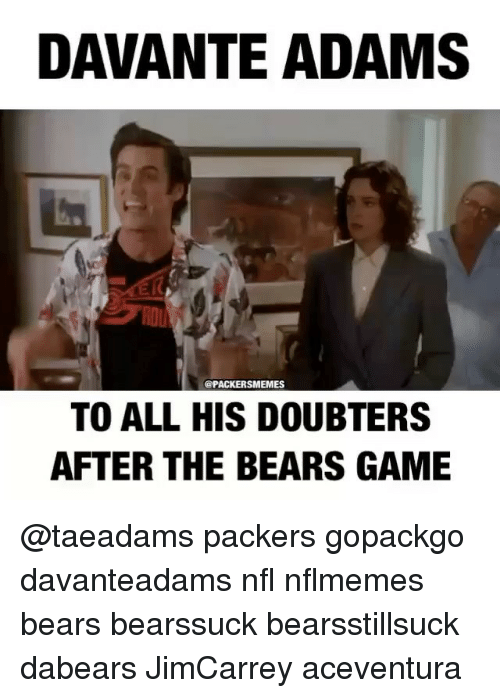 Davante Adams Opackersmemes To All His Doubters After The Bears Game