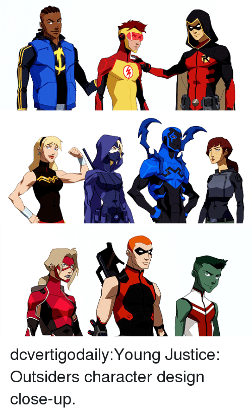 outsiders: dcvertigodaily:Young Justice: Outsiders character design close-up.