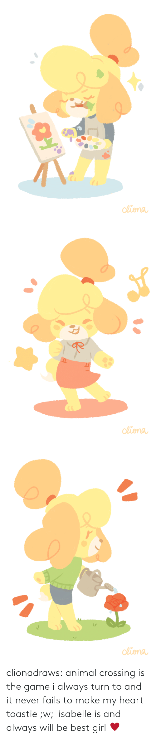 Animal Crossing: de clionadraws:   animal crossing is the game i always turn to and it never fails to make my heart toastie ;w;  isabelle is and always will be best girl ♥