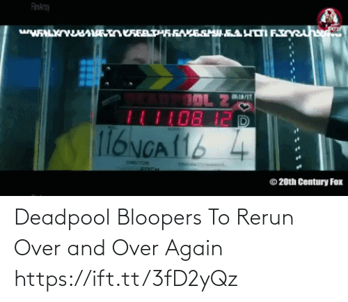 Deadpool: Deadpool Bloopers To Rerun Over and Over Again https://ift.tt/3fD2yQz
