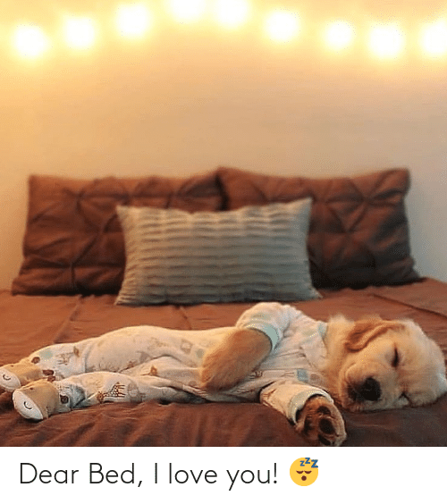 I Love You: Dear Bed, I love you! 😴