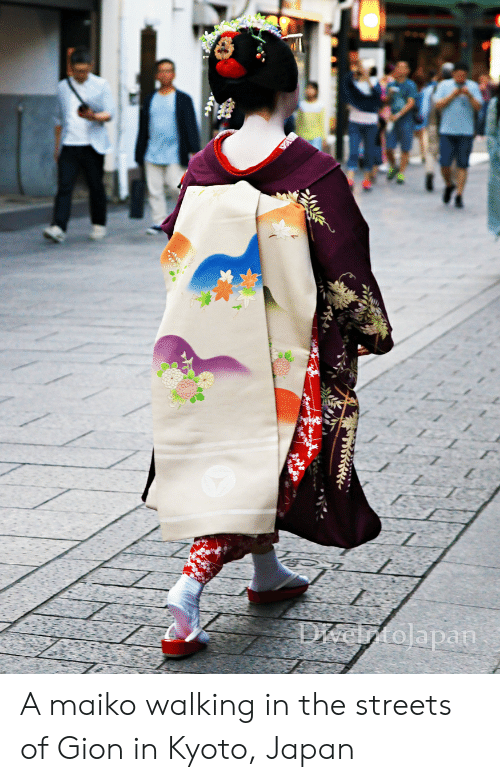 Streets, Japan, and Kyoto: Delztolapan A maiko walking in the streets of Gion in Kyoto, Japan