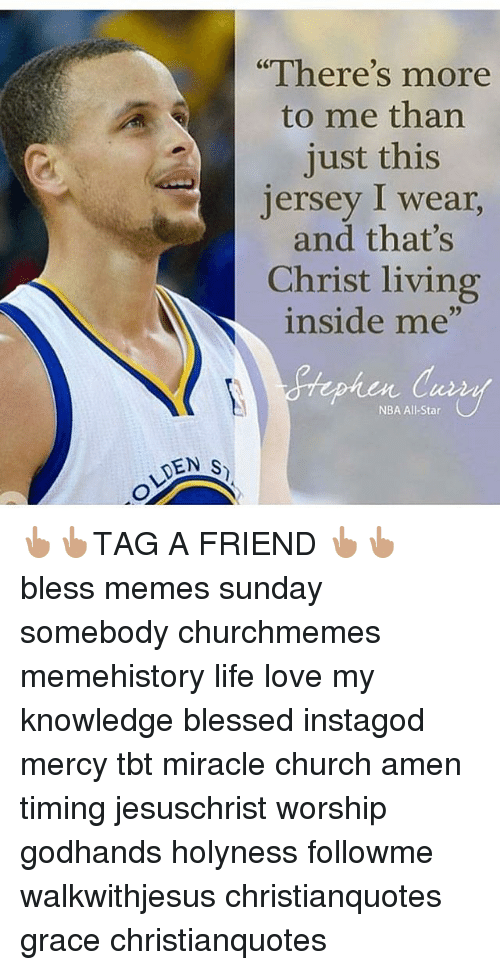 "nba all stars: DEN S  ""There's more  to me than  just this  Jersey I wear,  and that's  Christ living  inside me""  NBA All-Star 👆🏽👆🏽TAG A FRIEND 👆🏽👆🏽 bless memes sunday somebody churchmemes memehistory life love my knowledge blessed instagod mercy tbt miracle church amen timing jesuschrist worship godhands holyness followme walkwithjesus christianquotes grace christianquotes"