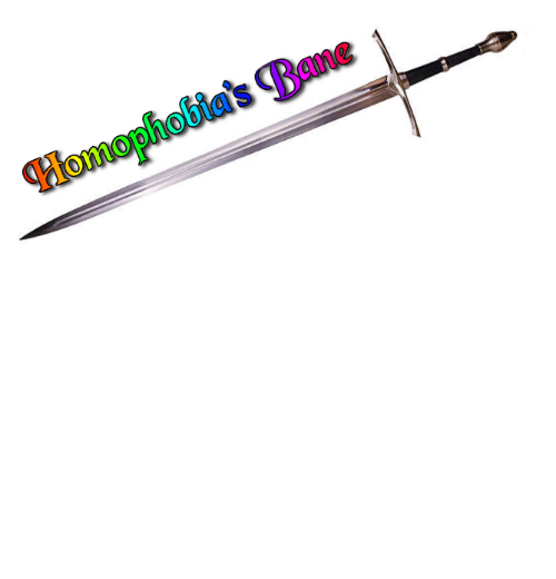 Bane: dgcatanisiri:  wowhead:  prideknights: This is Homophobia's Bane. Those who wield it fight for LGBTQ+ rights. Reblog to wield this powerful sword.