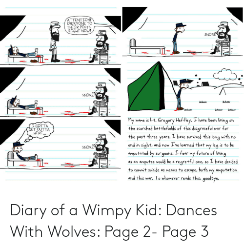 Dances: Diary of a Wimpy Kid: Dances With Wolves: Page 2- Page 3