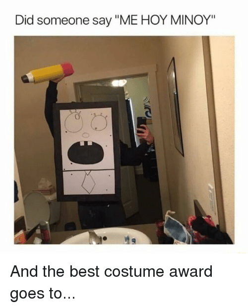 """Funny, Best, and Did: Did someone say """"ME HOY MINOY"""" And the best costume award goes to..."""