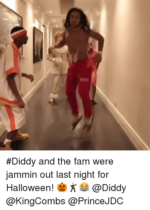 Jammin: #Diddy and the fam were jammin out last night for Halloween! 🎃🕺😂 @Diddy @KingCombs @PrinceJDC