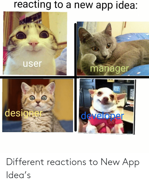 different: Different reactions to New App Idea's