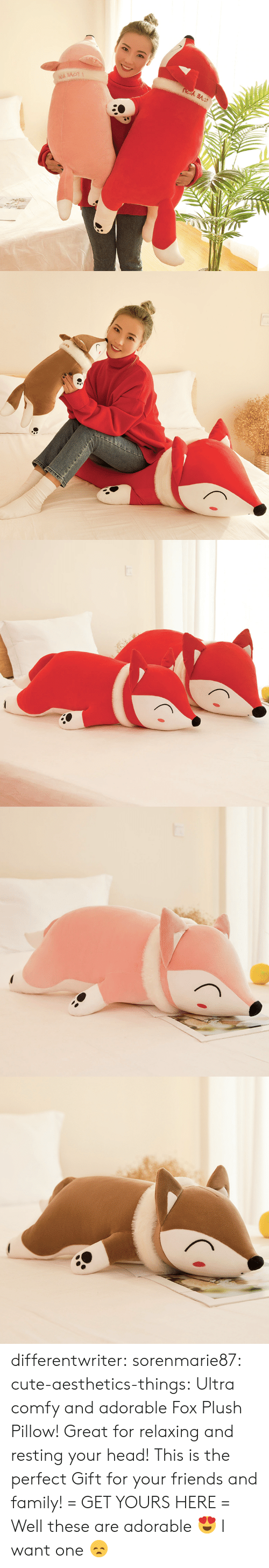 comfy: differentwriter:  sorenmarie87:  cute-aesthetics-things:  Ultra comfy and adorable Fox Plush Pillow! Great for relaxing and resting your head! This is the perfect Gift for your friends and family! = GET YOURS HERE =   Well these are adorable 😍  I want one 😞
