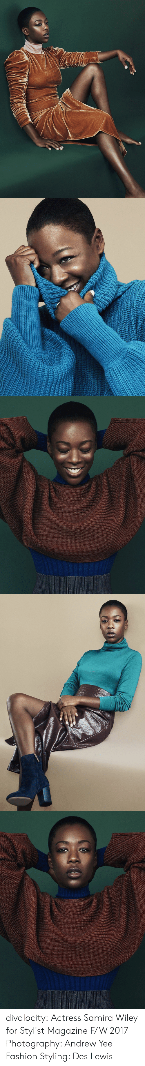 wiley: divalocity: Actress Samira Wiley for Stylist Magazine F/W 2017 Photography: Andrew Yee Fashion Styling: Des Lewis