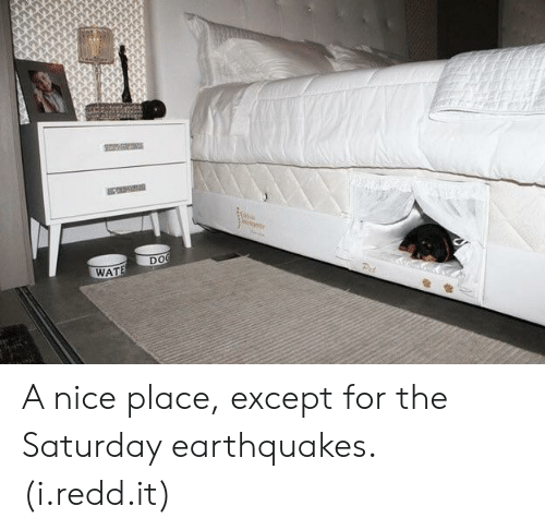 earthquakes: DO  WAT A nice place, except for the Saturday earthquakes. (i.redd.it)