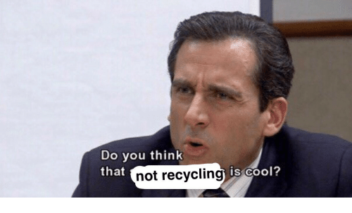 Cool, Recycling, and Think: Do you think  that  not recycling  is Cool?