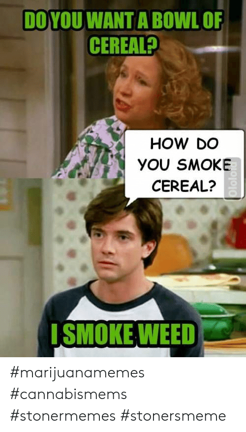Weed, Bowl, and How: DO YOU WANT A BOWL OF  CEREAL?  HOW DO  YOU SMOKE  CEREAL?  SMOKE WEED #marijuanamemes #cannabismems #stonermemes #stonersmeme