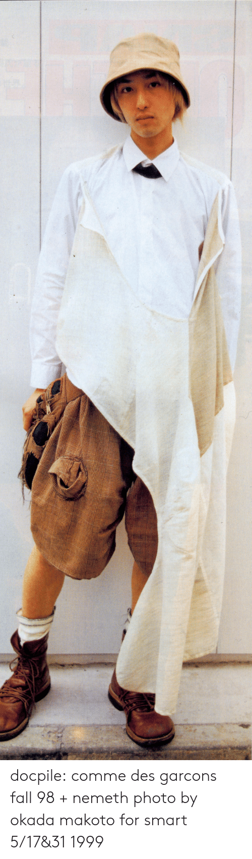 Fall, Tumblr, and Blog: docpile: comme des garcons fall 98 + nemeth photo by okada makoto for smart 5/17&31 1999