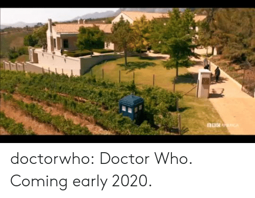 Doctor Who: doctorwho:  Doctor Who. Coming early 2020.