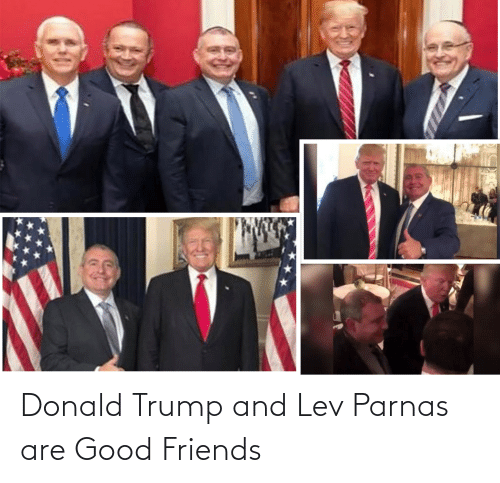 Donald Trump: Donald Trump and Lev Parnas are Good Friends