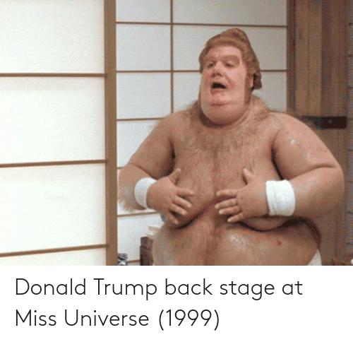 Donald Trump: Donald Trump back stage at Miss Universe (1999)