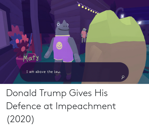 Donald Trump: Donald Trump Gives His Defence at Impeachment (2020)