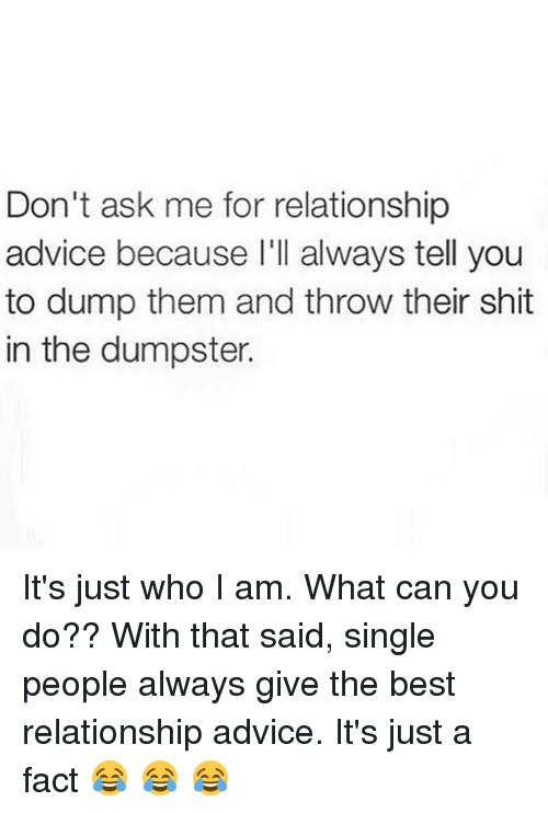 Advice for single people