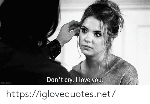 Love, I Love You, and Net: Don't cry. I love you  itsburied https://iglovequotes.net/