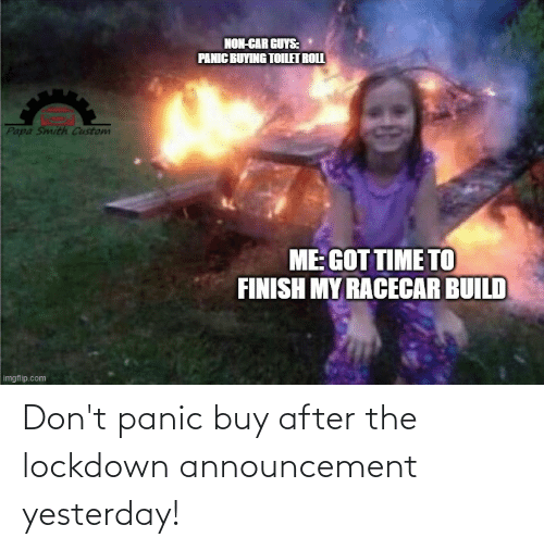 panic: Don't panic buy after the lockdown announcement yesterday!