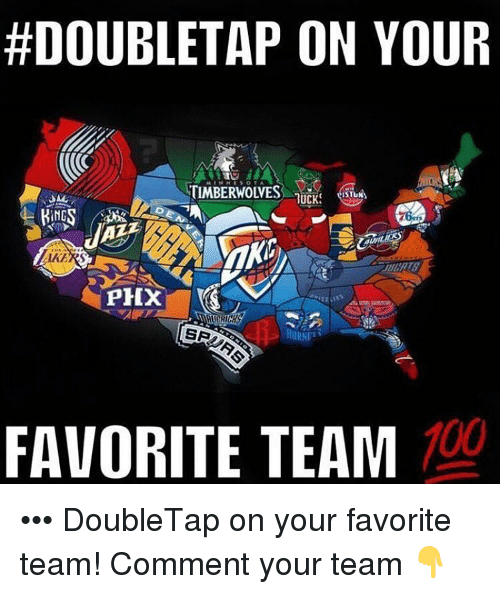 phox:  #DOUBLETAP ON YOUR  TIMBERWOIVES  TRUCK  ING  PHOX  SR  100  FAVORITE TEAM ••• DoubleTap on your favorite team! Comment your team 👇