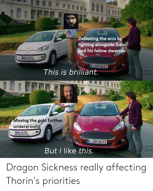 Lord of the Rings, Dragon, and Really: Dragon Sickness really affecting Thorin's priorities
