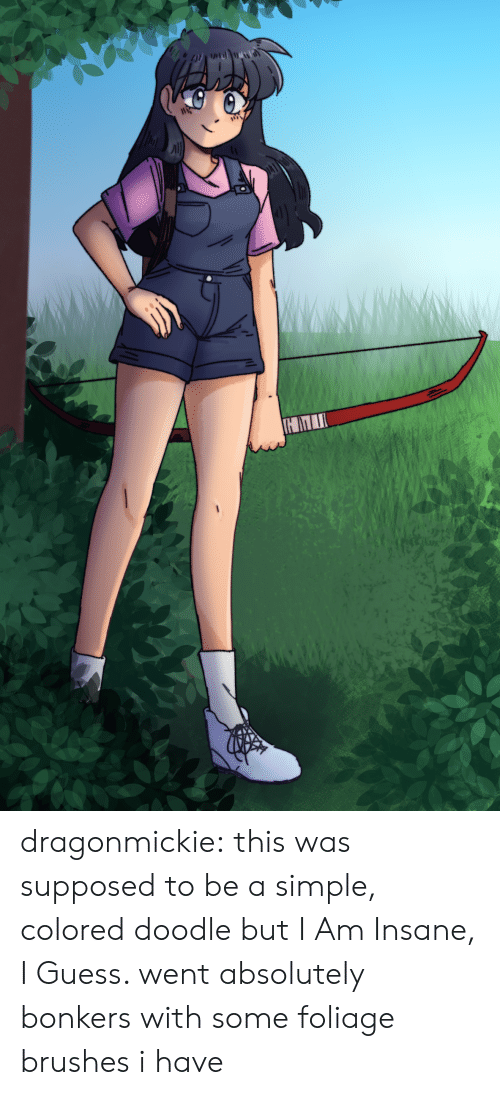 Target, Tumblr, and Blog: dragonmickie:  this was supposed to be a simple, colored doodle but I Am Insane, I Guess. went absolutely bonkers with some foliage brushes i have