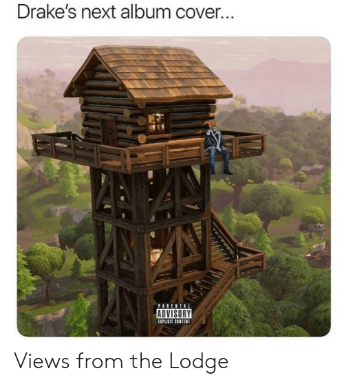 Content, Next, and Drakes: Drake's next album cover.  EXPLICIT CONTENT Views from the Lodge