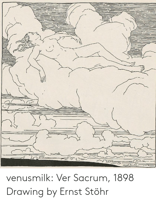Sid: dreamste venusmilk:  Ver Sacrum, 1898 Drawing by Ernst Stöhr