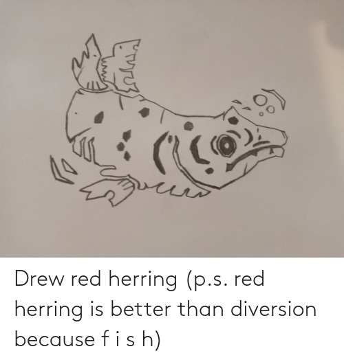 Diversion: Drew red herring (p.s. red herring is better than diversion because f i s h)