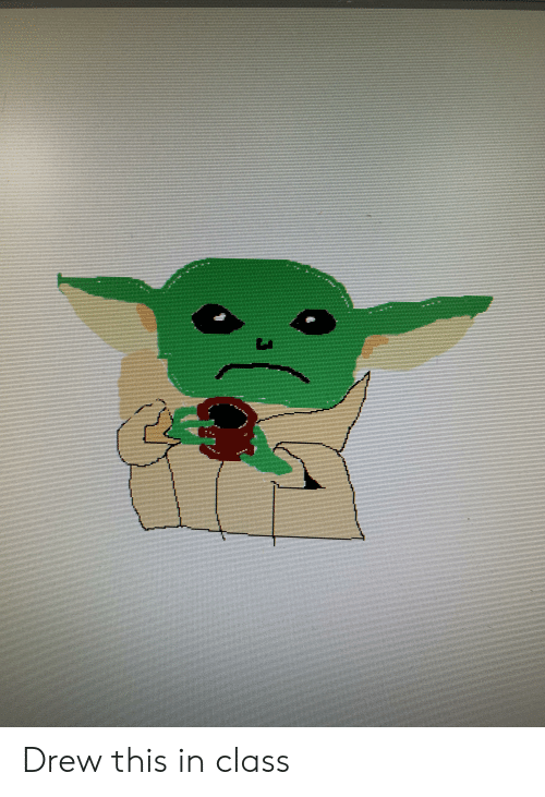 Reddit, Class, and This: Drew this in class