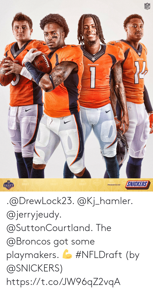 snickers: .@DrewLock23. @Kj_hamler. @jerryjeudy. @SuttonCourtland.  The @Broncos got some playmakers. 💪 #NFLDraft (by @SNICKERS) https://t.co/JW96qZ2vqA