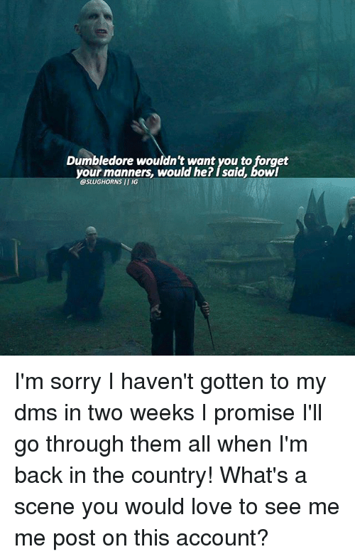 bowed: Dumbledore wouldn't want you to forget  your manners, would he? I said, bow  @SLUGHORNS II IG I'm sorry I haven't gotten to my dms in two weeks I promise I'll go through them all when I'm back in the country! What's a scene you would love to see me me post on this account?